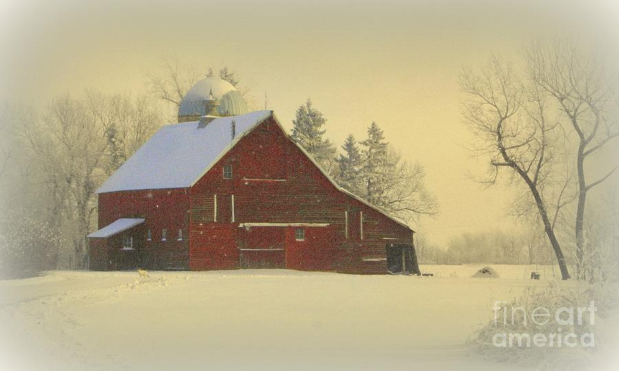 Wintery Barn Photograph  - Wintery Barn Fine Art Print