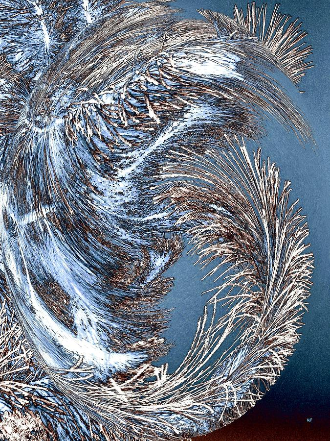 Wintry Pine Needles Digital Art