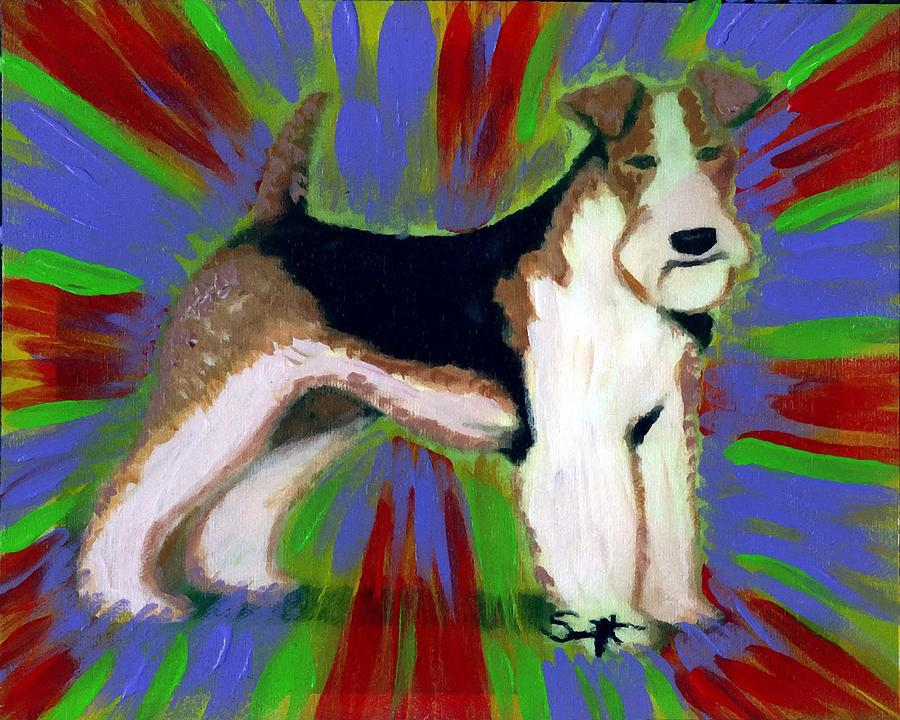 Wire Fox Terrier Painting