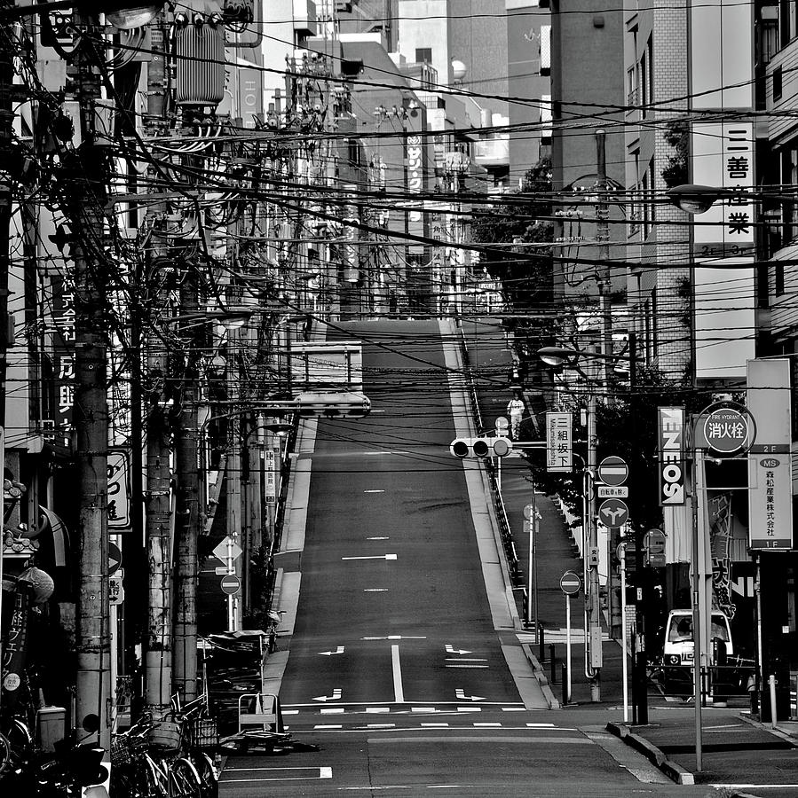 Wire Street In Yushima Photograph