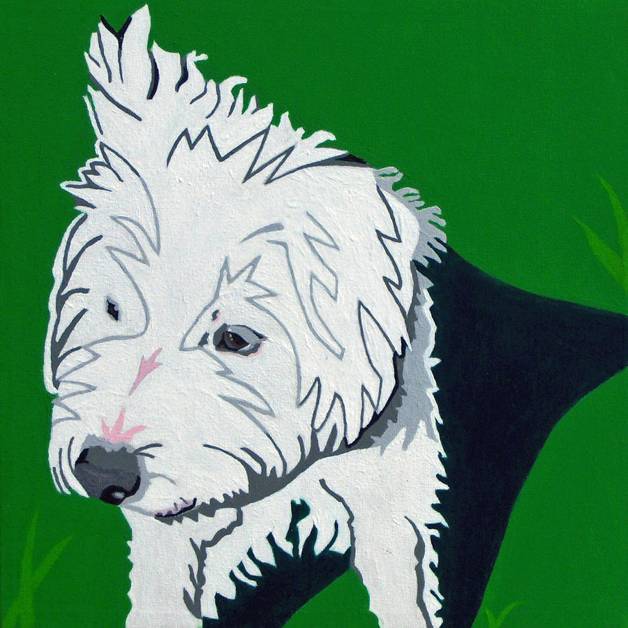 Wirehaired Jack Russell Terrier Painting