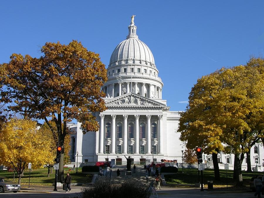 Wisconsin Photograph - Wisconsin State Capitol Building by Keith Stokes
