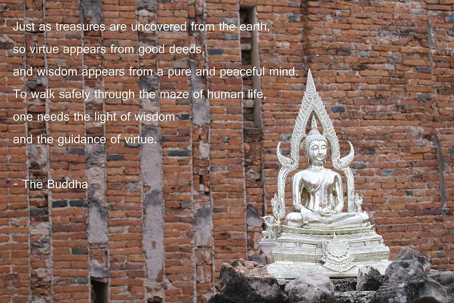 Buddha Photograph - Wisdom And Virtue by Gregory Smith