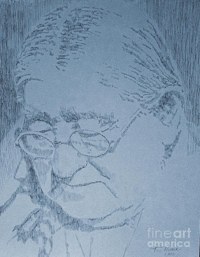 Pen Drawing - Wisdom by Robbi  Musser