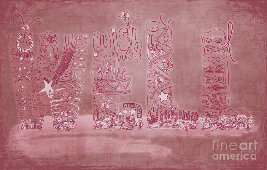 Wishing Well Breast Cancer Tribute Digital Art