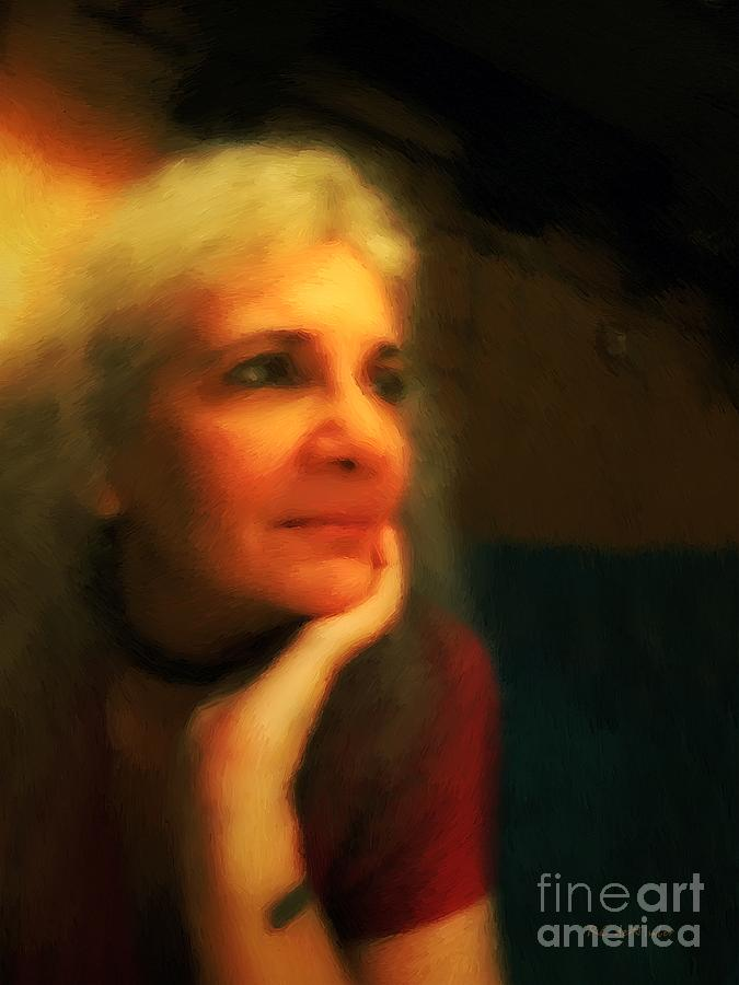 Portrait Painting - Wistful by RC DeWinter