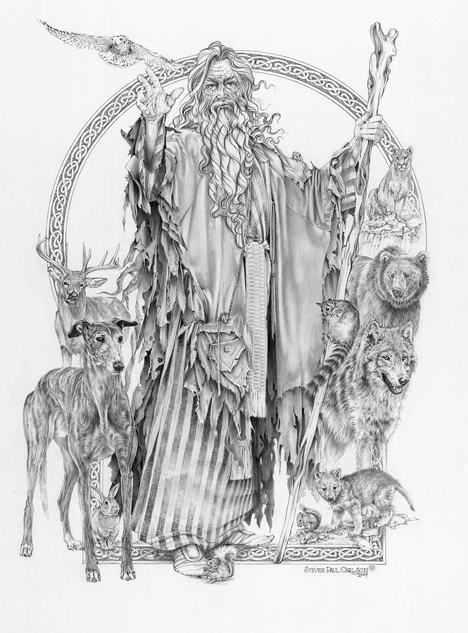 Wizard Iv - Wandering Wiseman - Pax Consensio Drawing