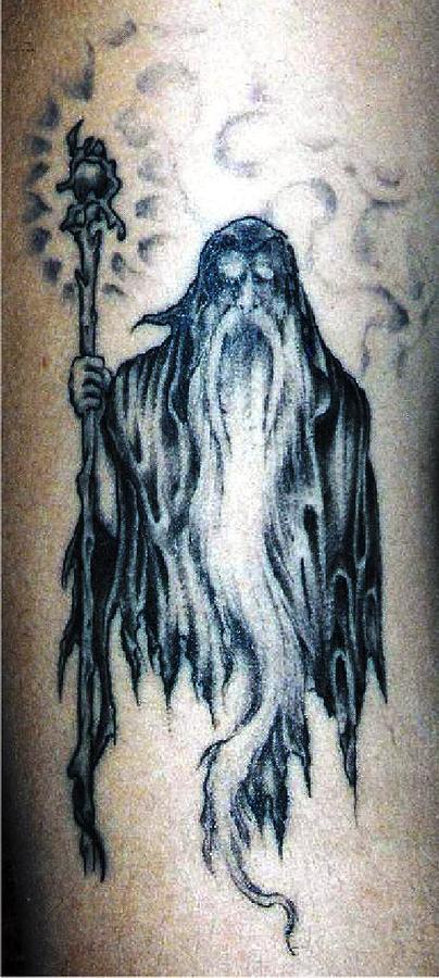 Wizard tattoo by martin girolami for Wizard tattoo designs