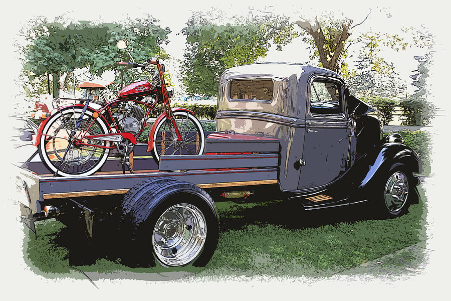 Wizzer Cycle At The Hot Rod Show Photograph  - Wizzer Cycle At The Hot Rod Show Fine Art Print