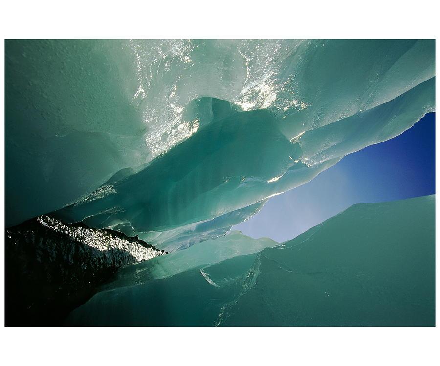 Wolf Creek Flows Through Perennial Ice Photograph
