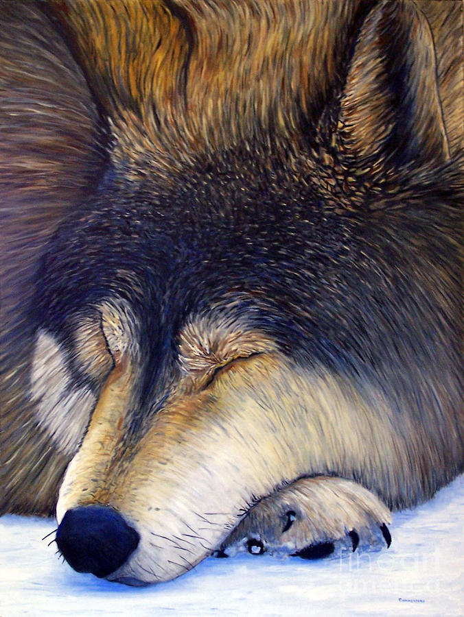 Wolf Dreams Painting
