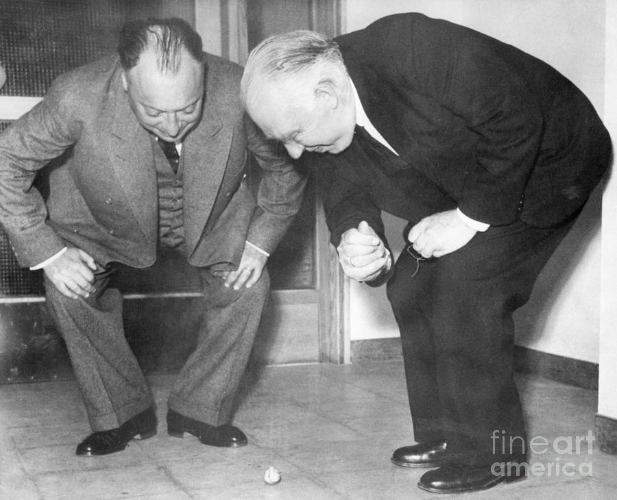 Wolfgang Pauli And Niels Bohr Photograph