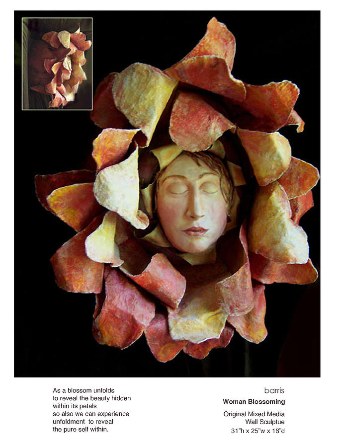Woman Blossoming Sculpture  - Woman Blossoming Fine Art Print