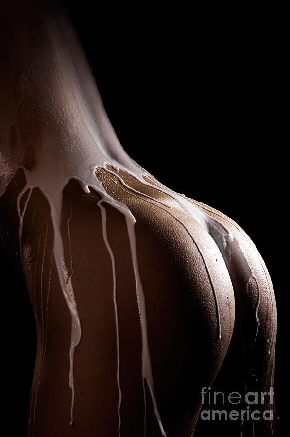 Woman Body Covered With Milk Photograph  - Woman Body Covered With Milk Fine Art Print