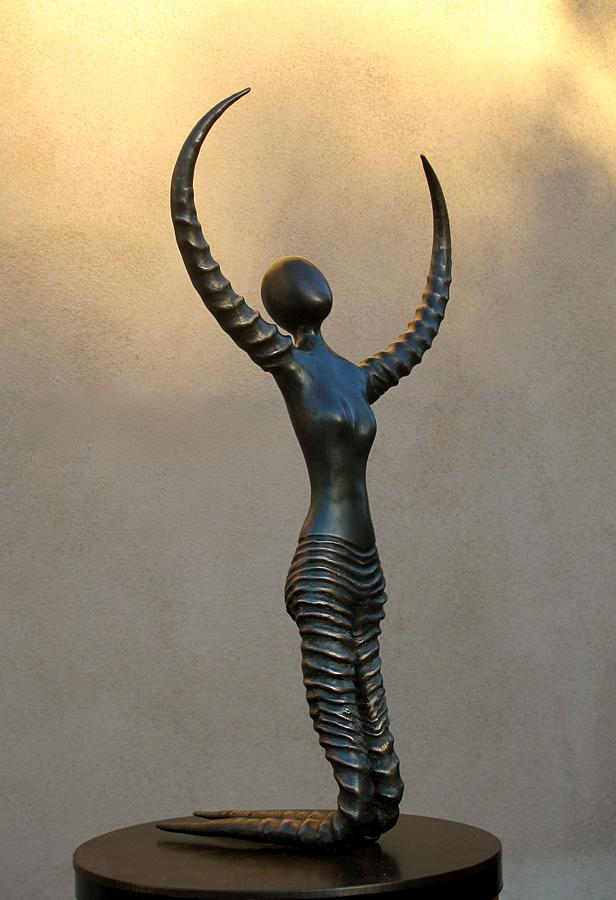 Woman From Horn Of Africa Sculpture  - Woman From Horn Of Africa Fine Art Print