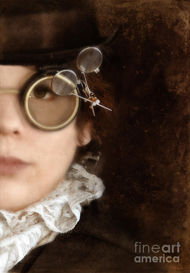 Woman In Steampunk Clothing  Photograph  - Woman In Steampunk Clothing  Fine Art Print