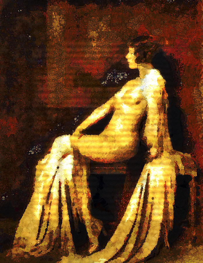 Woman Of The Night Mixed Media  - Woman Of The Night Fine Art Print