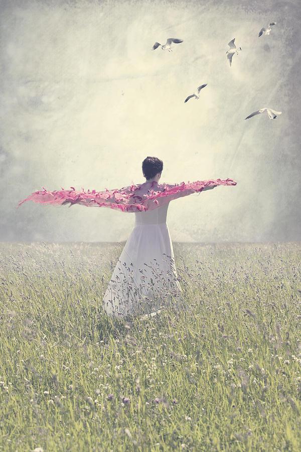 Woman On A Lawn Photograph