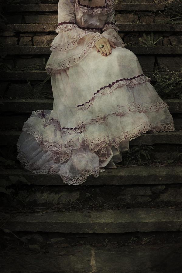Woman On Steps Photograph