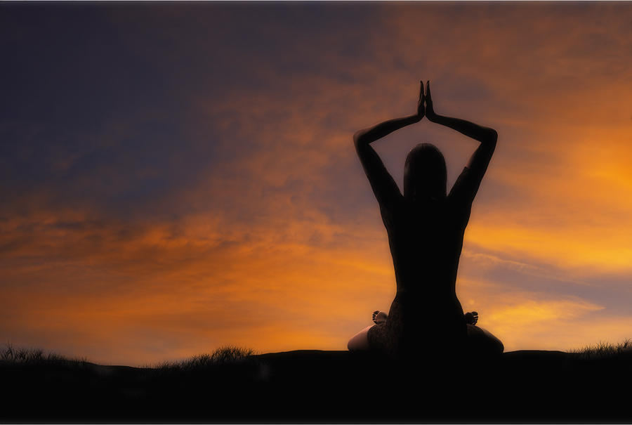 Woman Practicing Yoga Photograph  - Woman Practicing Yoga Fine Art Print