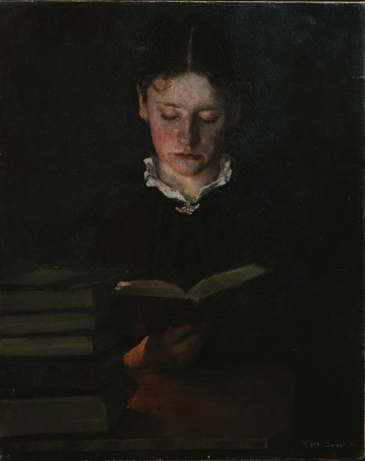Woman Reading Photograph