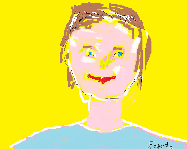 Woman Smiling Digital Art  - Woman Smiling Fine Art Print