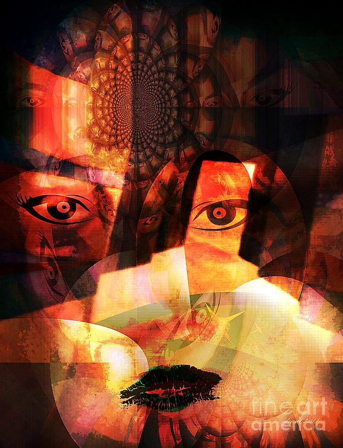 Woman Spirit At The Door  Mixed Media  - Woman Spirit At The Door  Fine Art Print