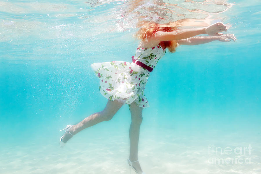Woman underwater photograph