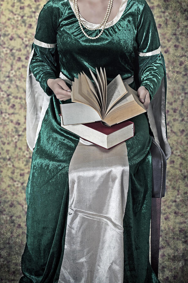 Woman With A Book Photograph
