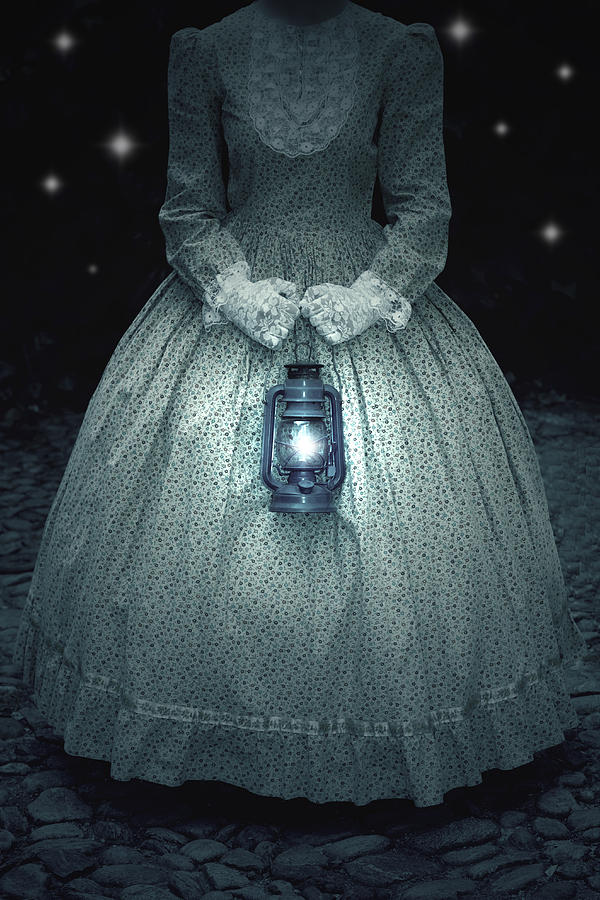 Woman With Lantern Photograph