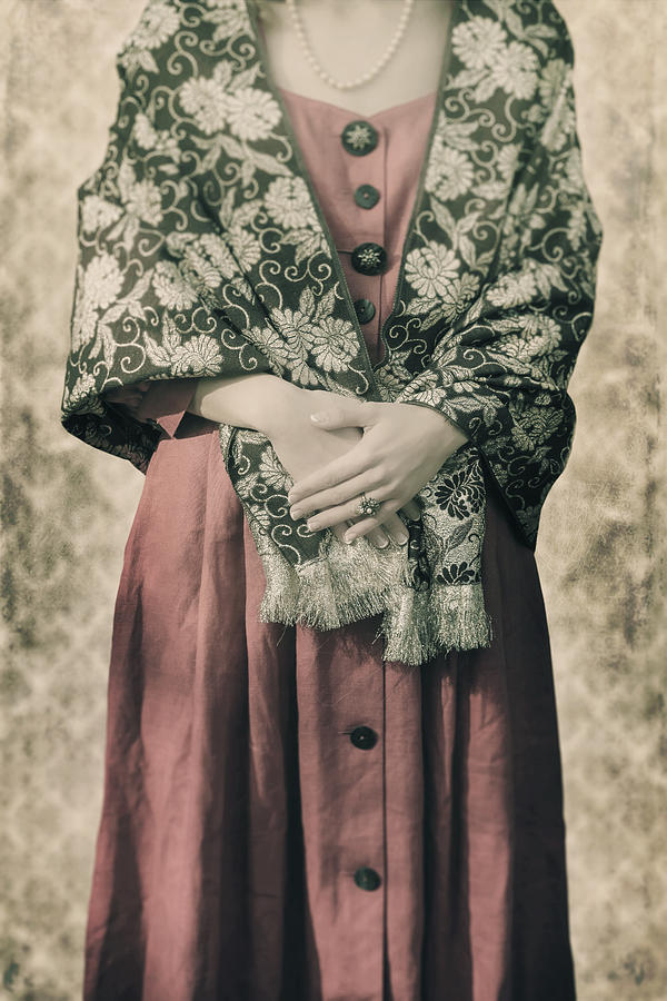 Woman With Shawl Photograph  - Woman With Shawl Fine Art Print