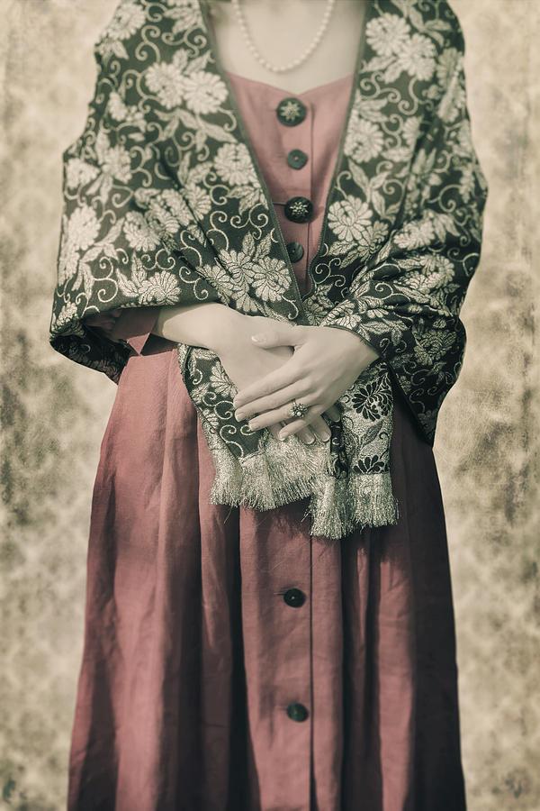 Woman Photograph - Woman With Shawl by Joana Kruse
