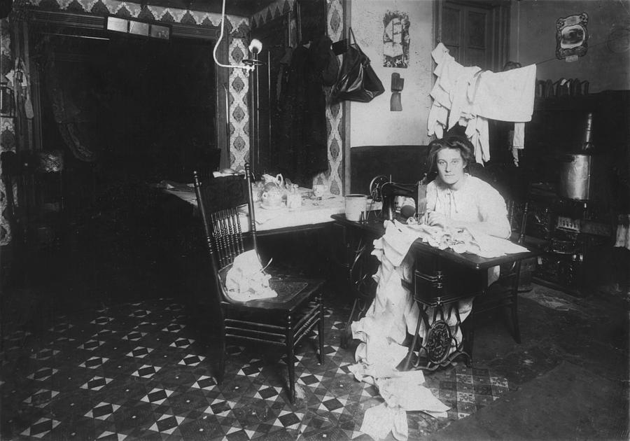 Woman Working In Basement, From Caption Photograph
