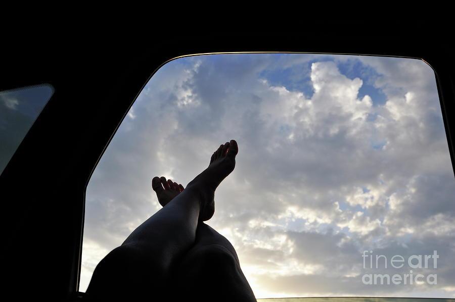 фото ножки в машине фото
