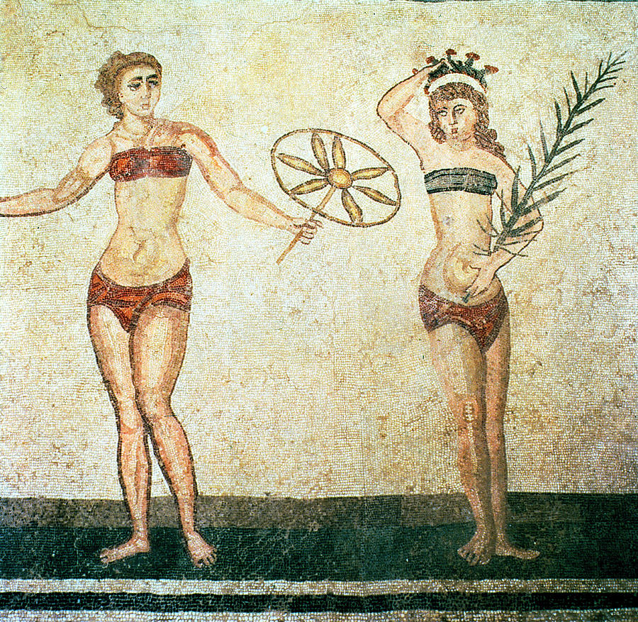 Women In Bikinis From The Room Of The Ten Dancing Girls Painting