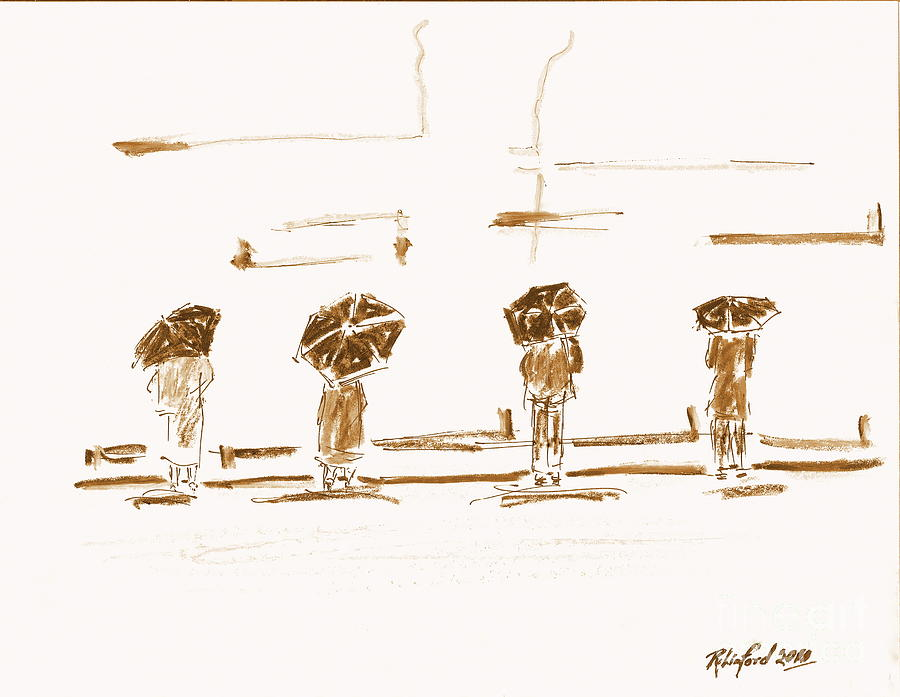 Women Of The Wailing Wall 2 Painting  - Women Of The Wailing Wall 2 Fine Art Print