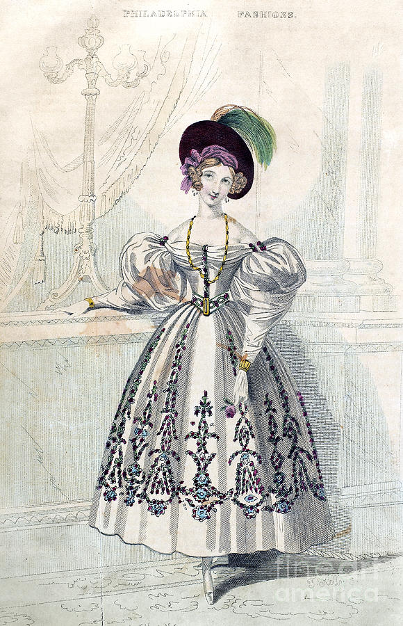 Womens Fashion, 1833 Photograph