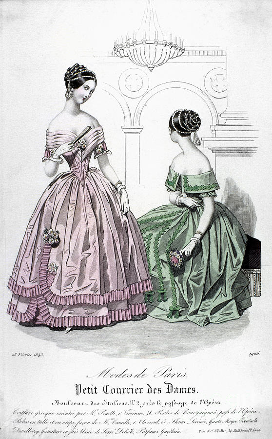 Womens Fashion, 1843 Photograph