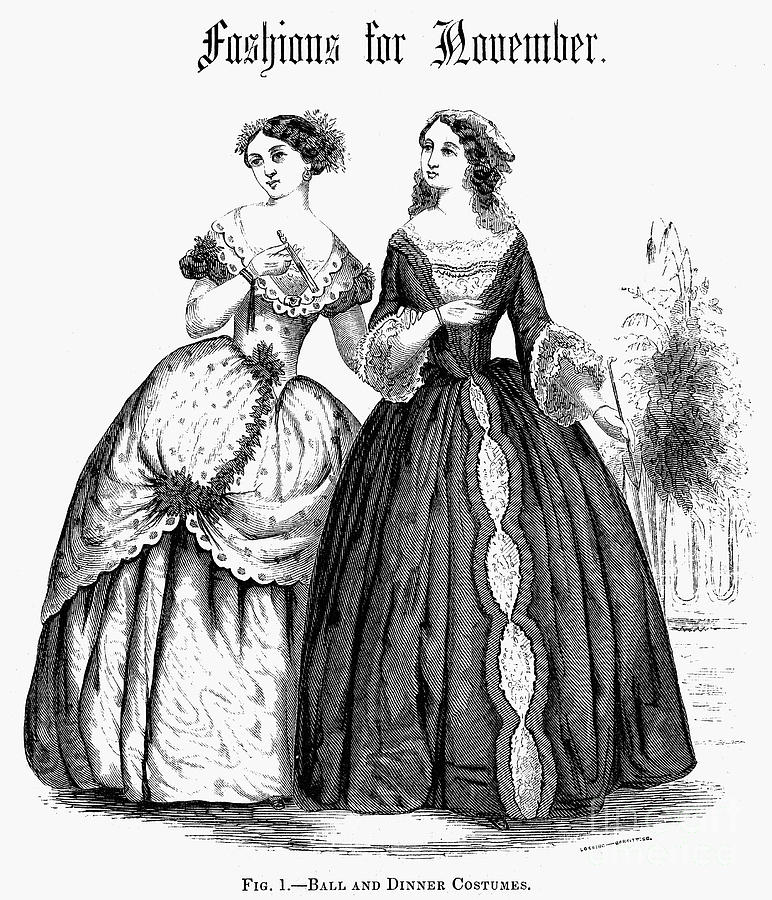 Womens Fashion, 1851 Photograph