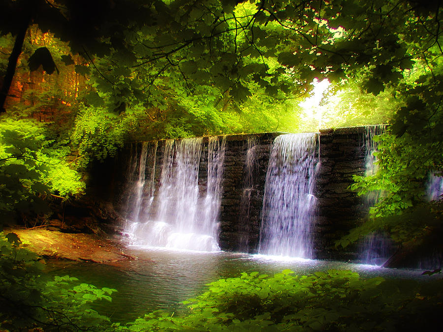 Wonderous Waterfall Photograph  - Wonderous Waterfall Fine Art Print