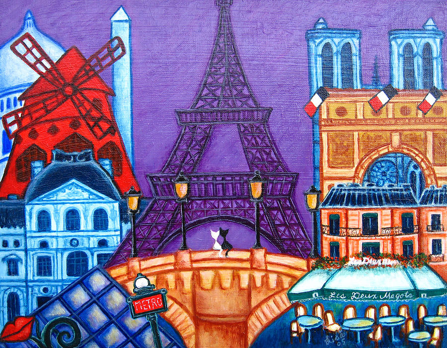Wonders Of Paris Painting