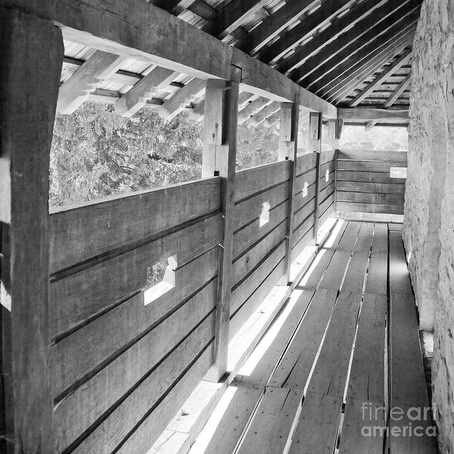 Wooden Balcony Photograph  - Wooden Balcony Fine Art Print