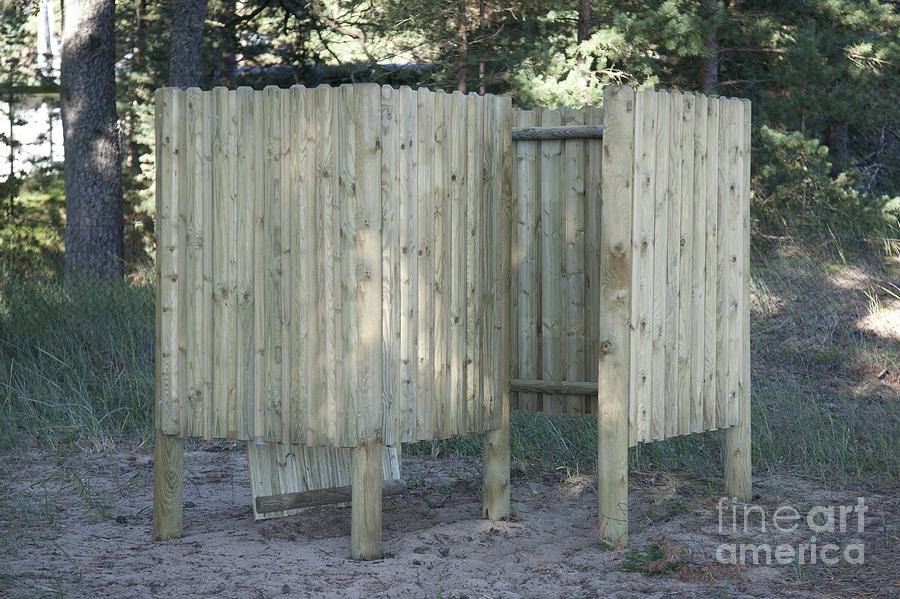 Wooden Beach Dressing Rooms Photograph  - Wooden Beach Dressing Rooms Fine Art Print