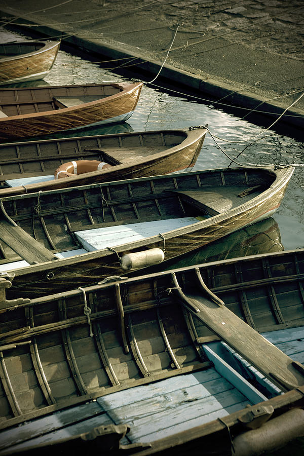 Wooden Boats Photograph  - Wooden Boats Fine Art Print