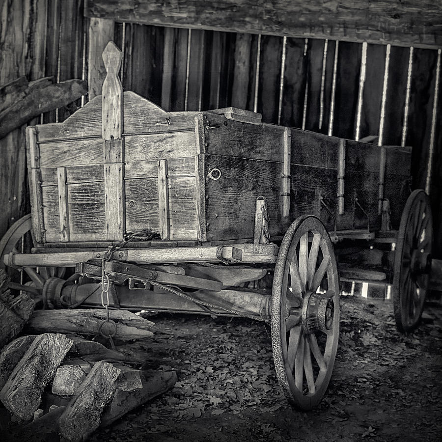Wooden Horse Drawn Cart Photograph  - Wooden Horse Drawn Cart Fine Art Print