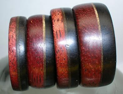 Wooden Rings - Purple Heart Maple And Ebony Jewelry