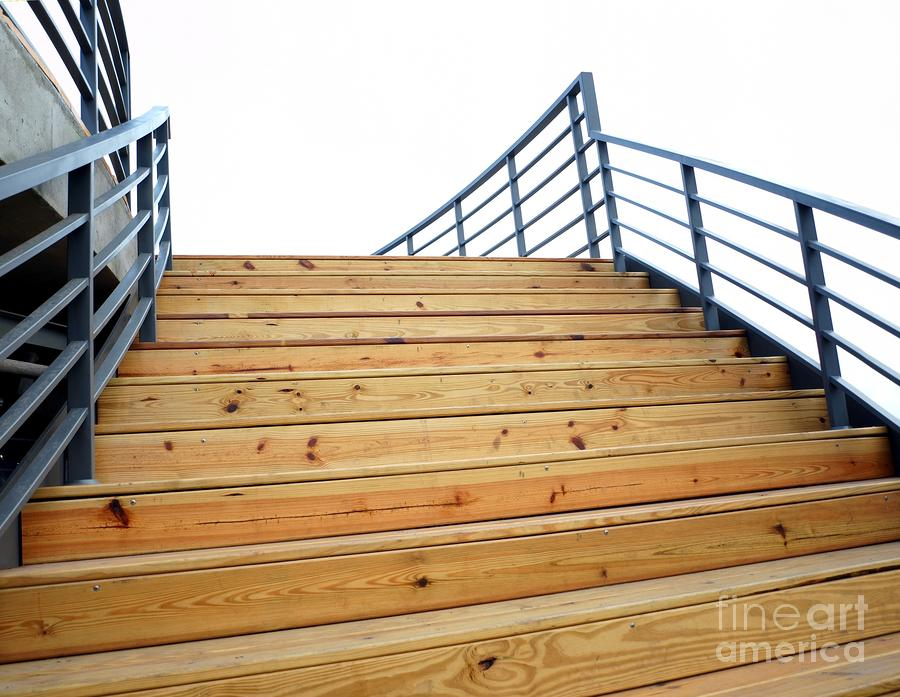 Wooden Staircase To The Sky Photograph