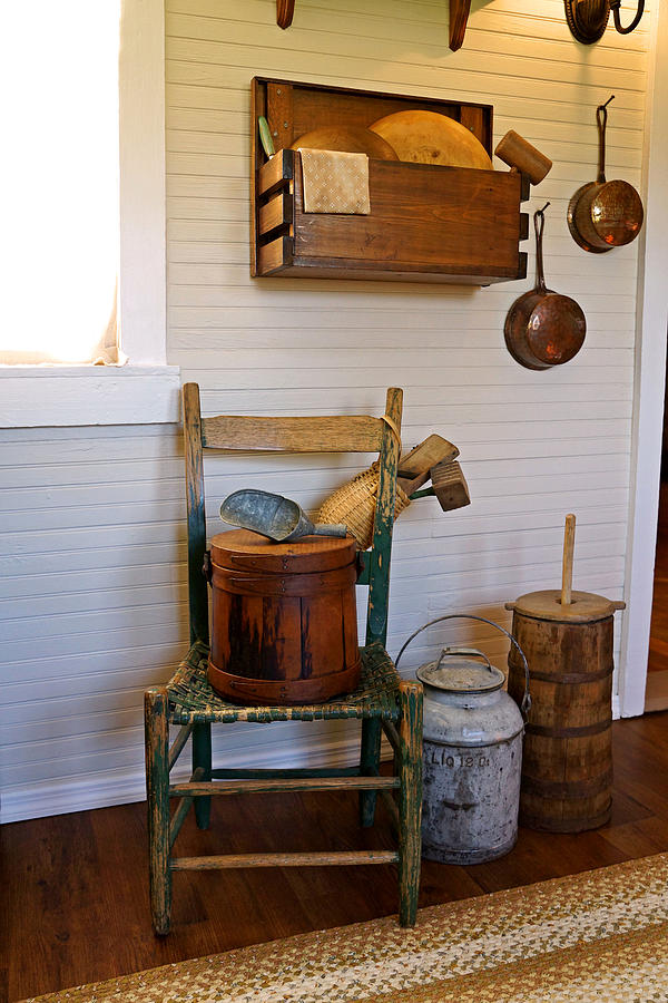 Wooden Wares And Farm Life Photograph
