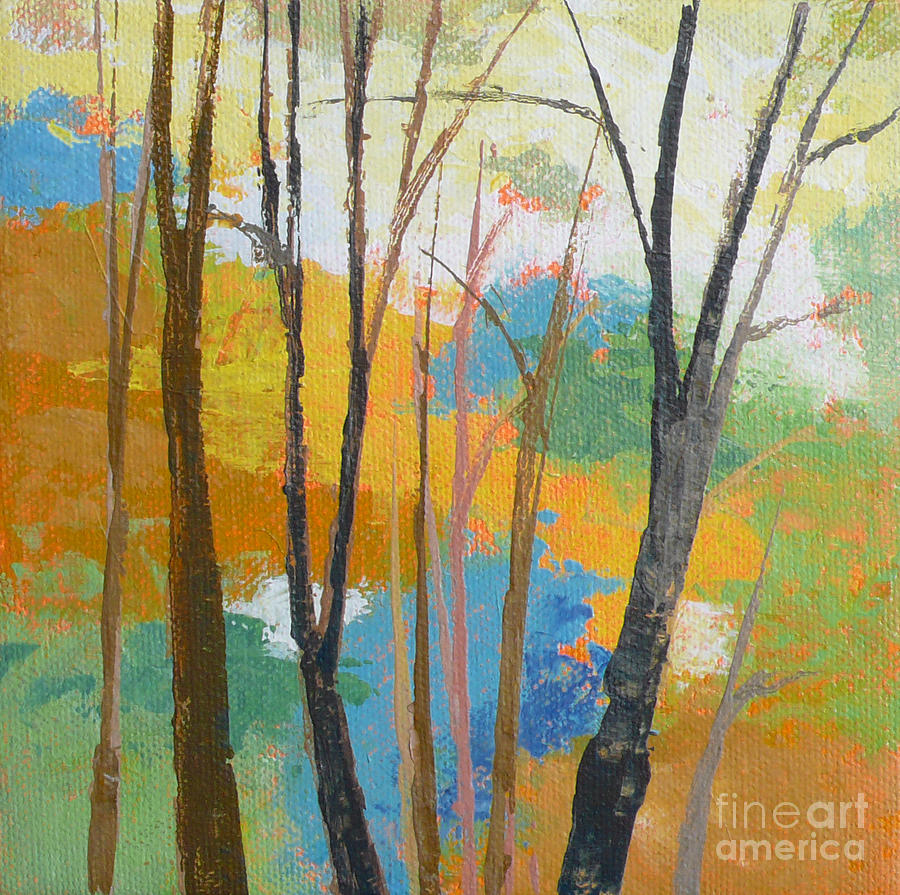 Tree Painting - Woodland #3 by Melody Cleary