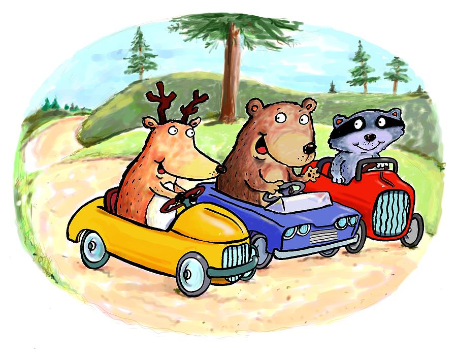 Woodland Traffic Jam Digital Art